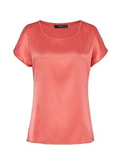 Top With Silk Front