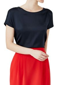 Hallhuber Top with Silk Front