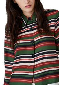 Hallhuber Striped Blouse Jacket