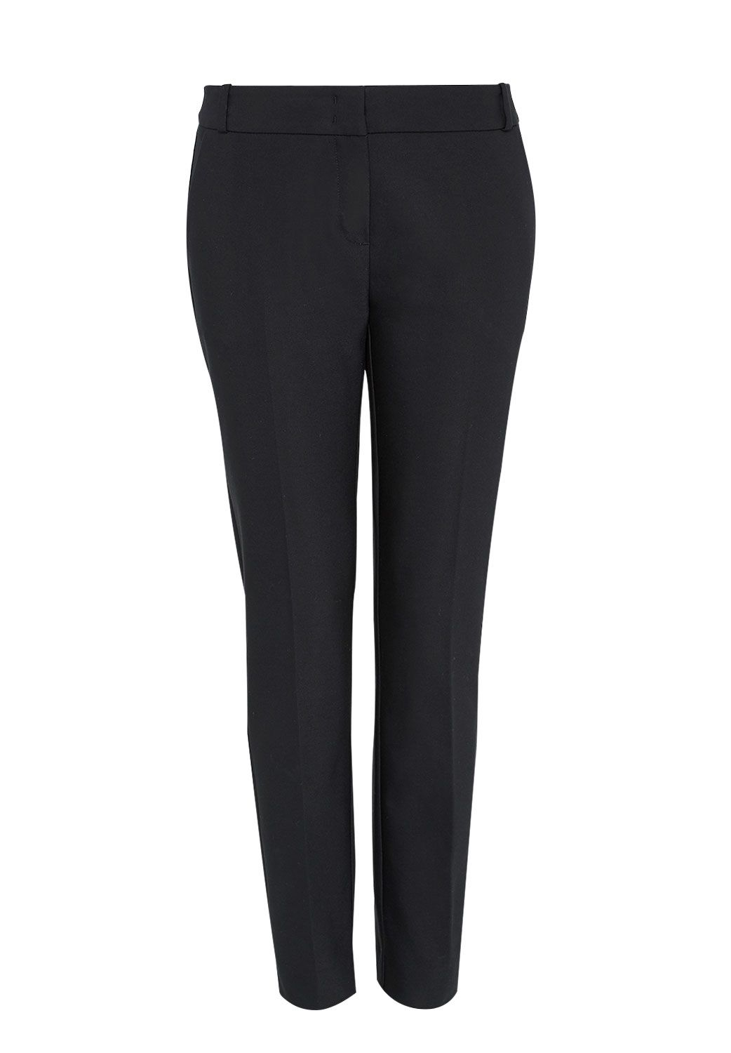 Hallhuber Side Slit Trousers, Black
