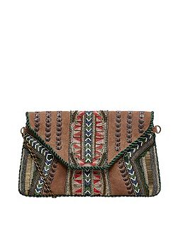 Suede Ethnic Clutch