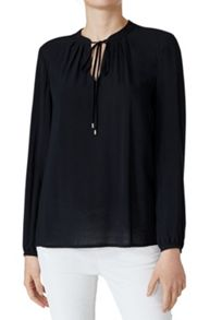 Hallhuber Blouse With Drawstring