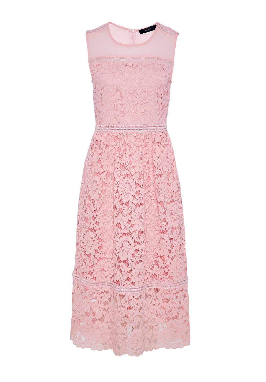 Hallhuber Midi Lace Dress, Pink