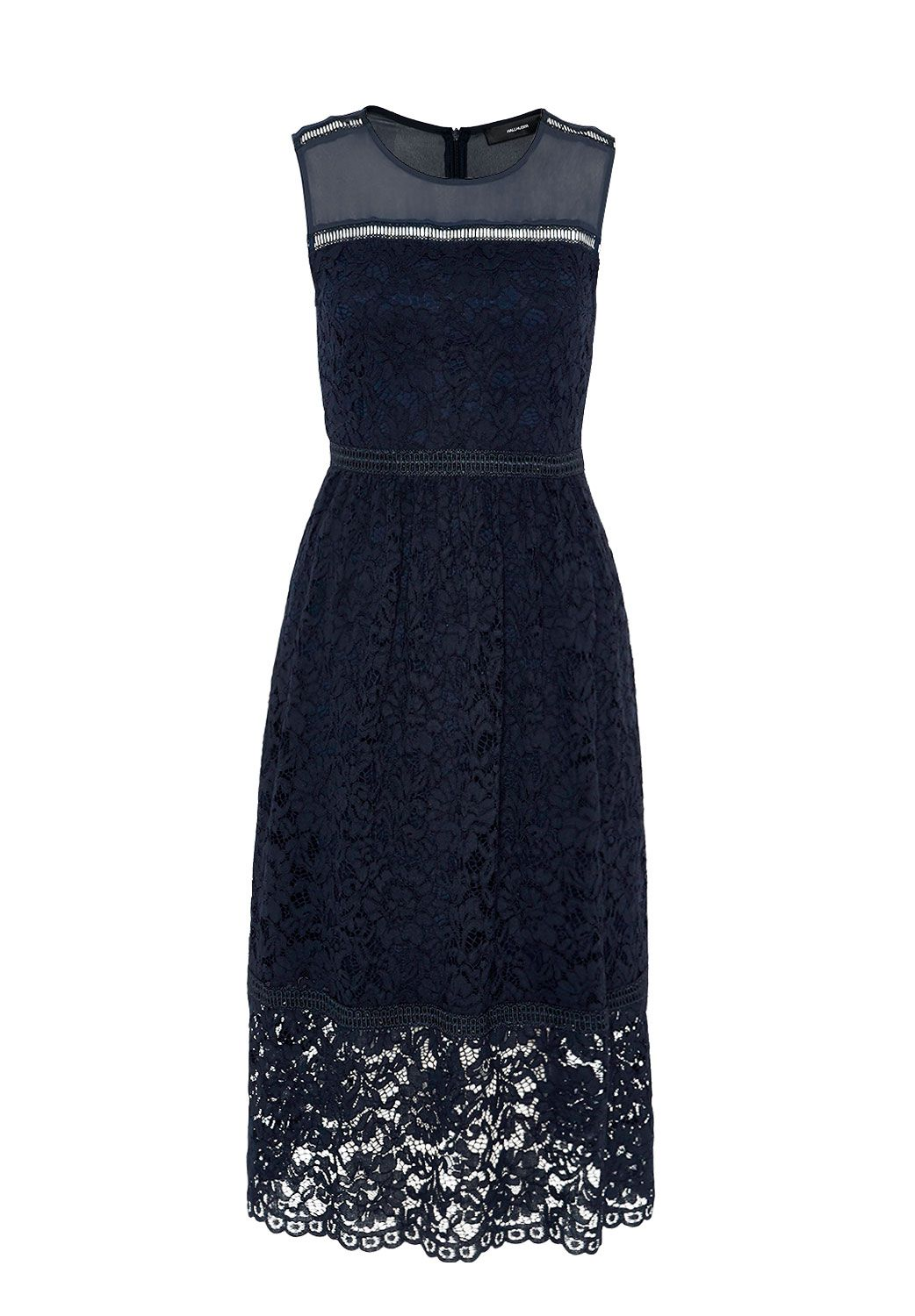Hallhuber Midi Lace Dress, Blue