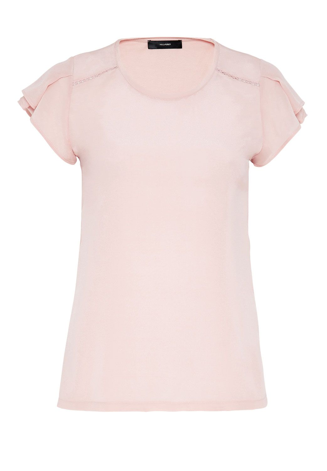 Hallhuber Butterfly sleeve silk top, Pink
