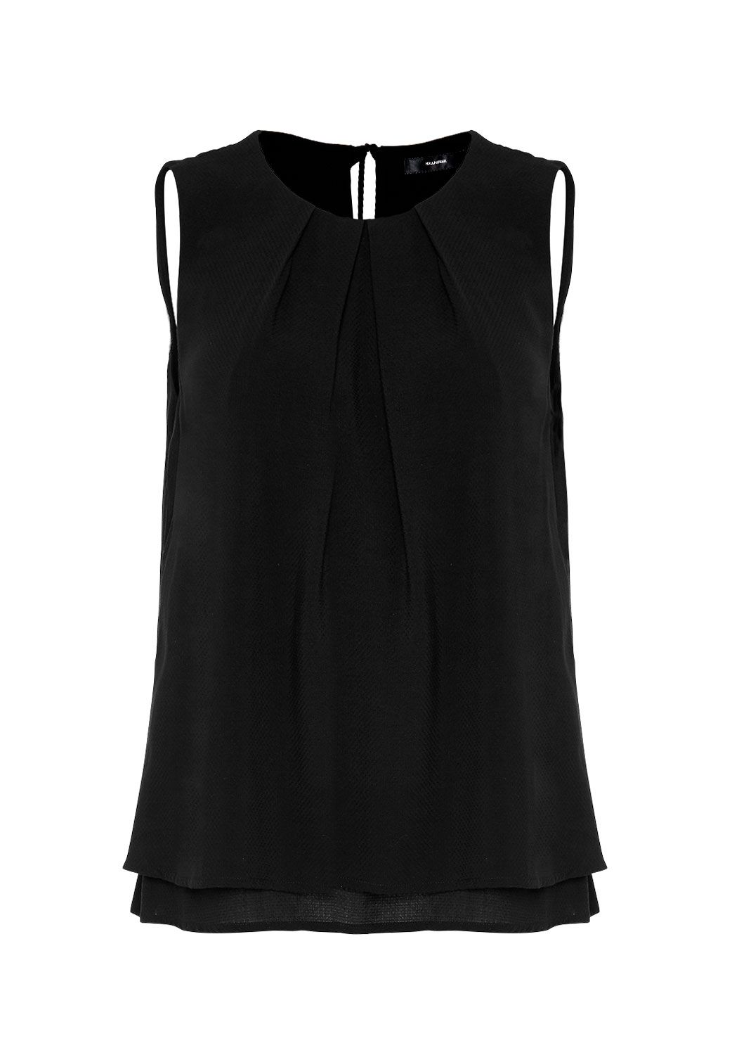 Hallhuber Swinging Layer Top, Black