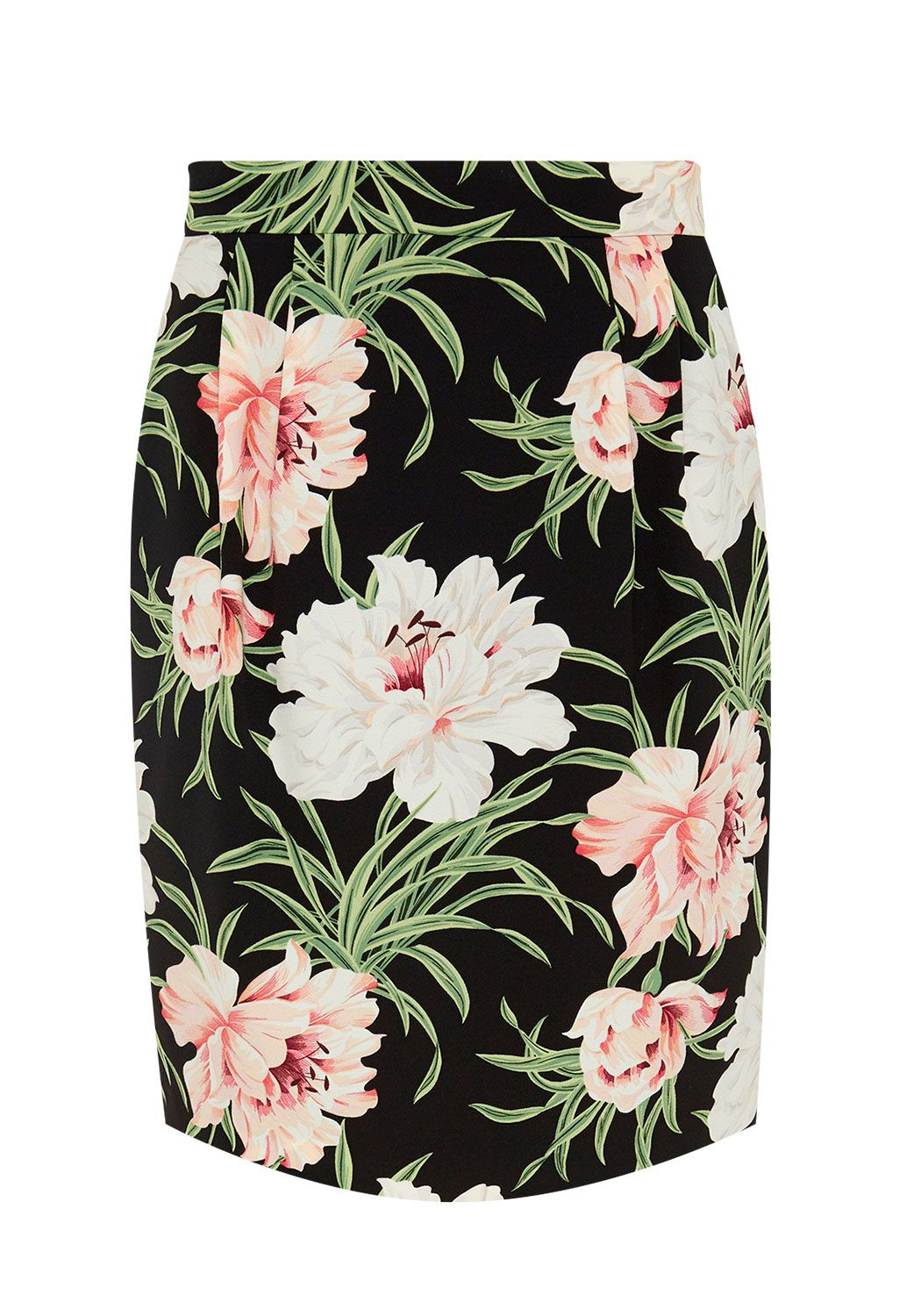 Hallhuber Skirt with exotic floral print, Multi-Coloured