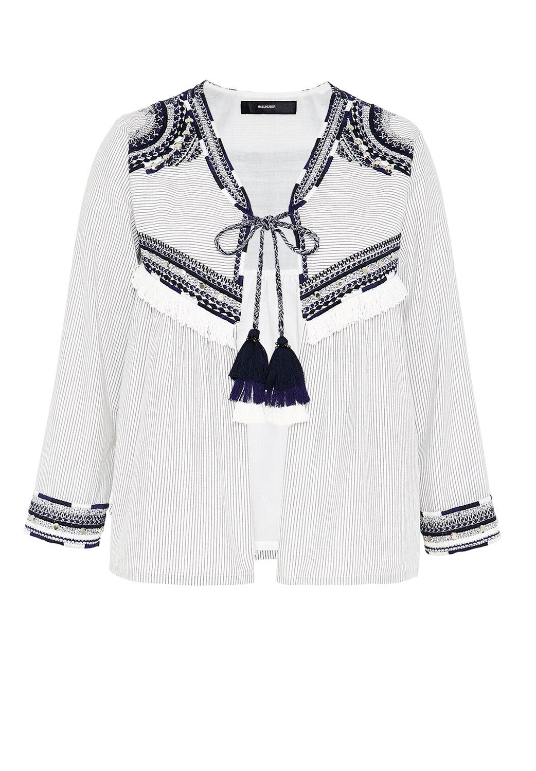 Hallhuber Embroidered ethnic jacket with tassels, Multi-Coloured