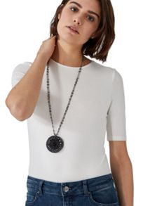 Hallhuber Long Medallion Necklace