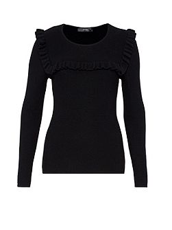 Textured ruffle jumper