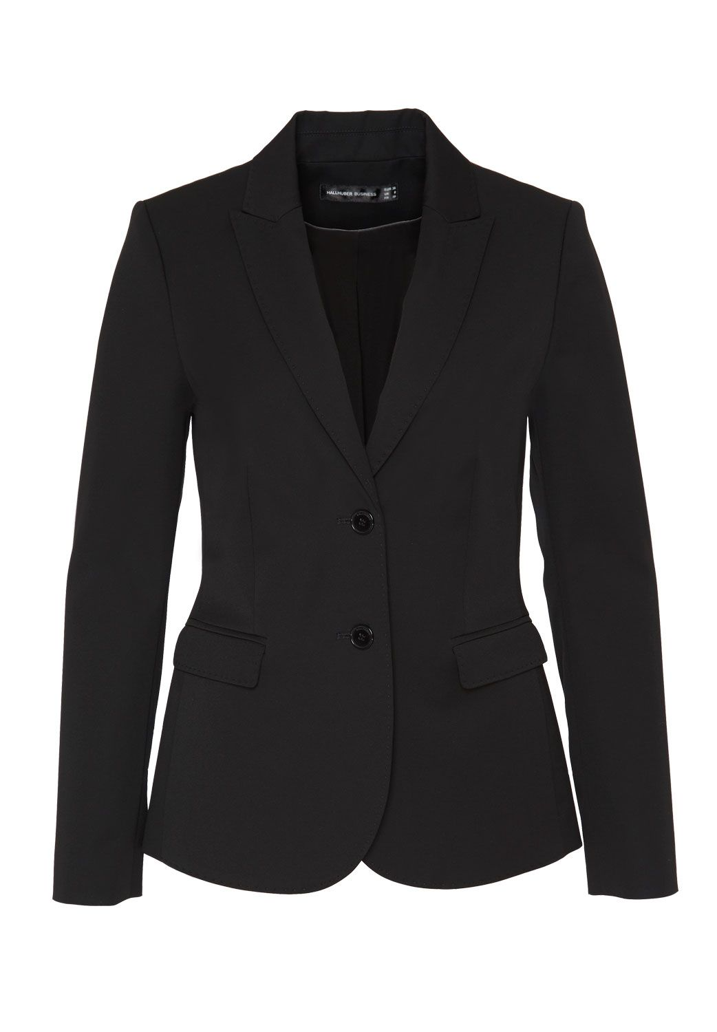 Hallhuber Business blazer with flap pockets, Black