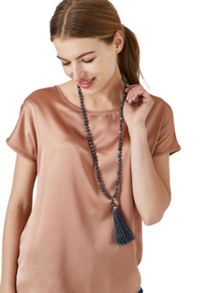 Hallhuber Jade tassel necklace