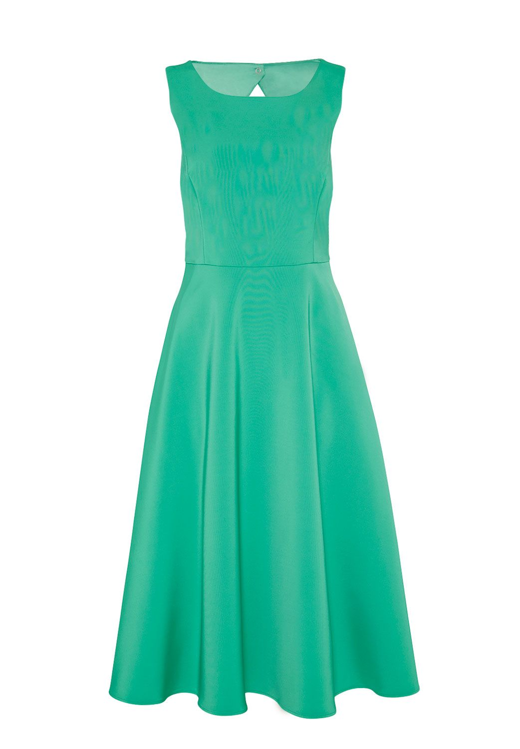 Hallhuber Midi dress with cut-out back, Green