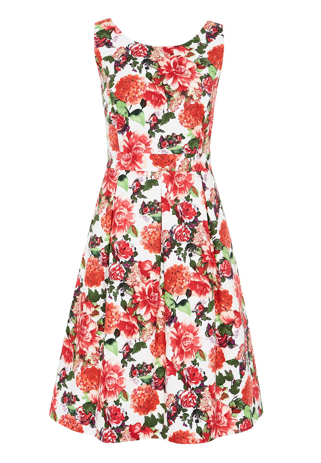 Hallhuber Floral print strap dress, Multi-Coloured