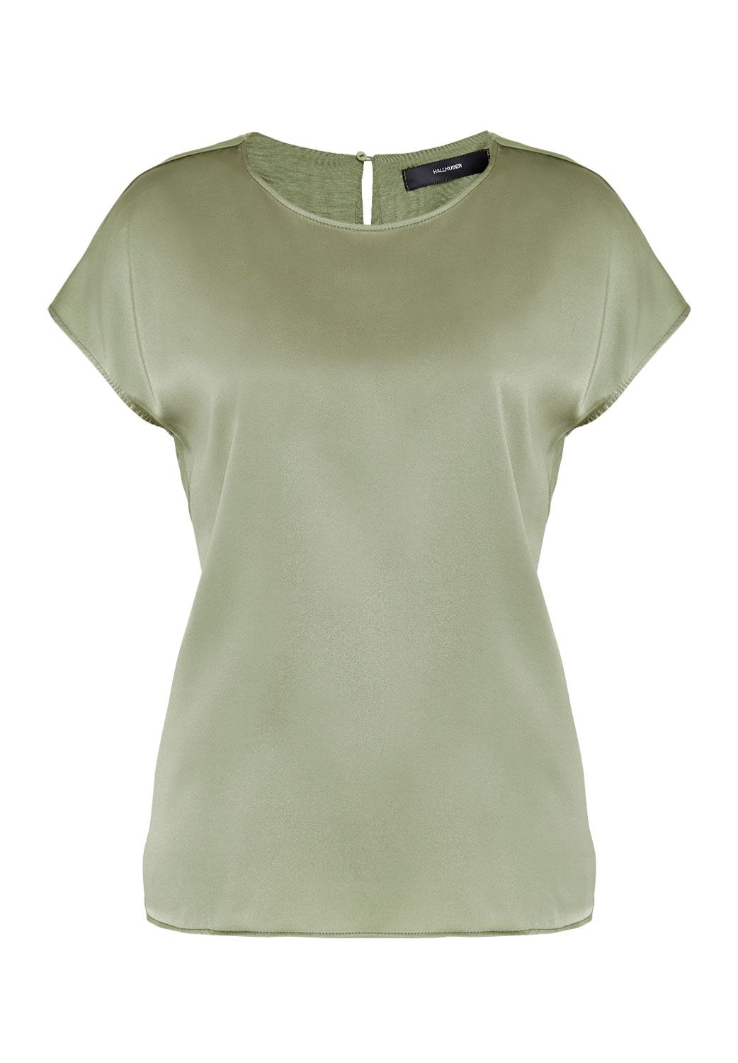Hallhuber Oversized top with gathered neckline, Sage