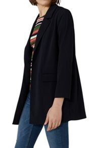 Hallhuber Long Blazer with Open Front