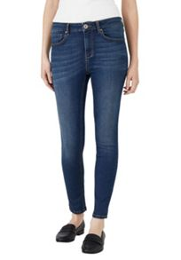 Hallhuber Skinny high-waisted jeans with crop leg