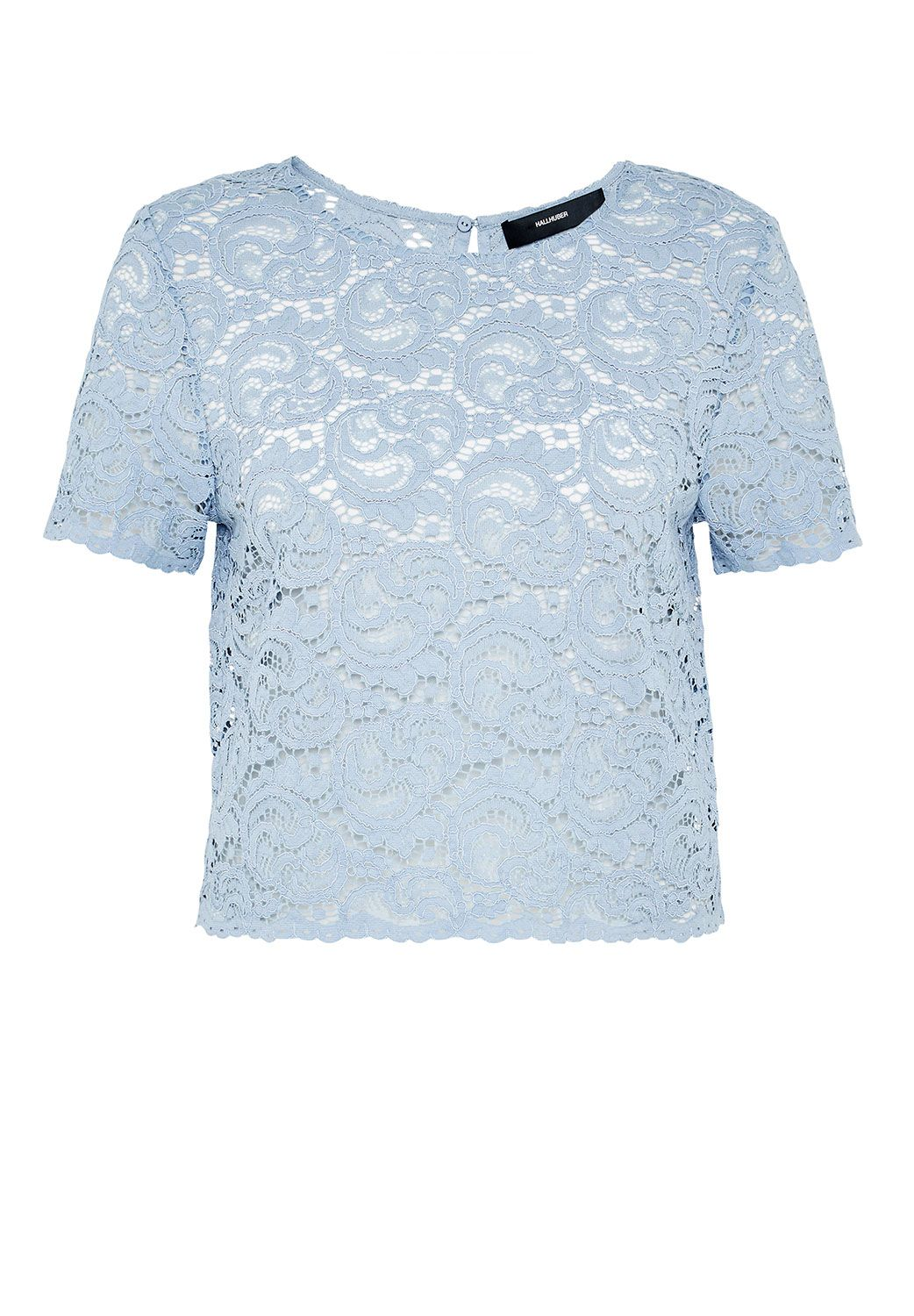 Hallhuber Crop lace top, Blue