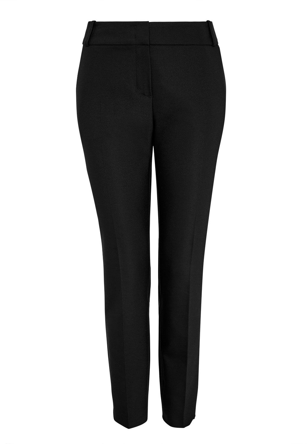 Hallhuber Side slit pleated trousers, Black