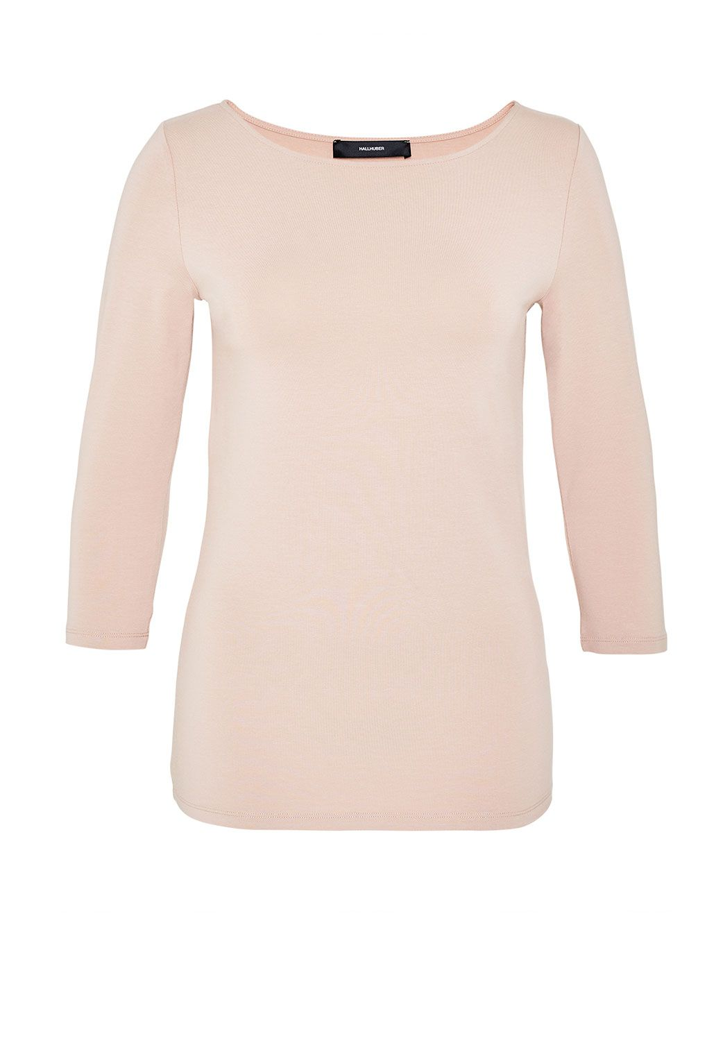 Hallhuber Boat Neck Top, Pink