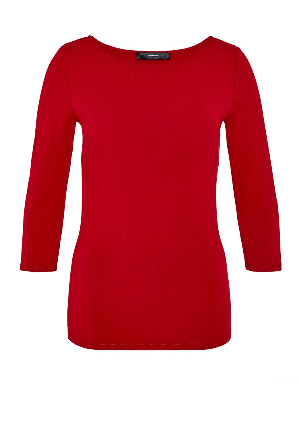 Hallhuber Boat Neck Top, Red