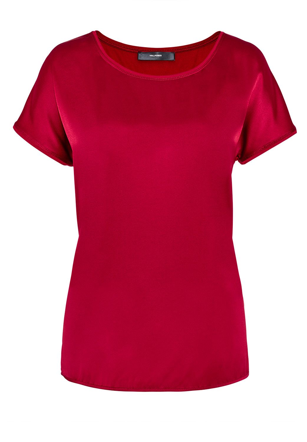 Hallhuber Mix-and-match silk top, Red