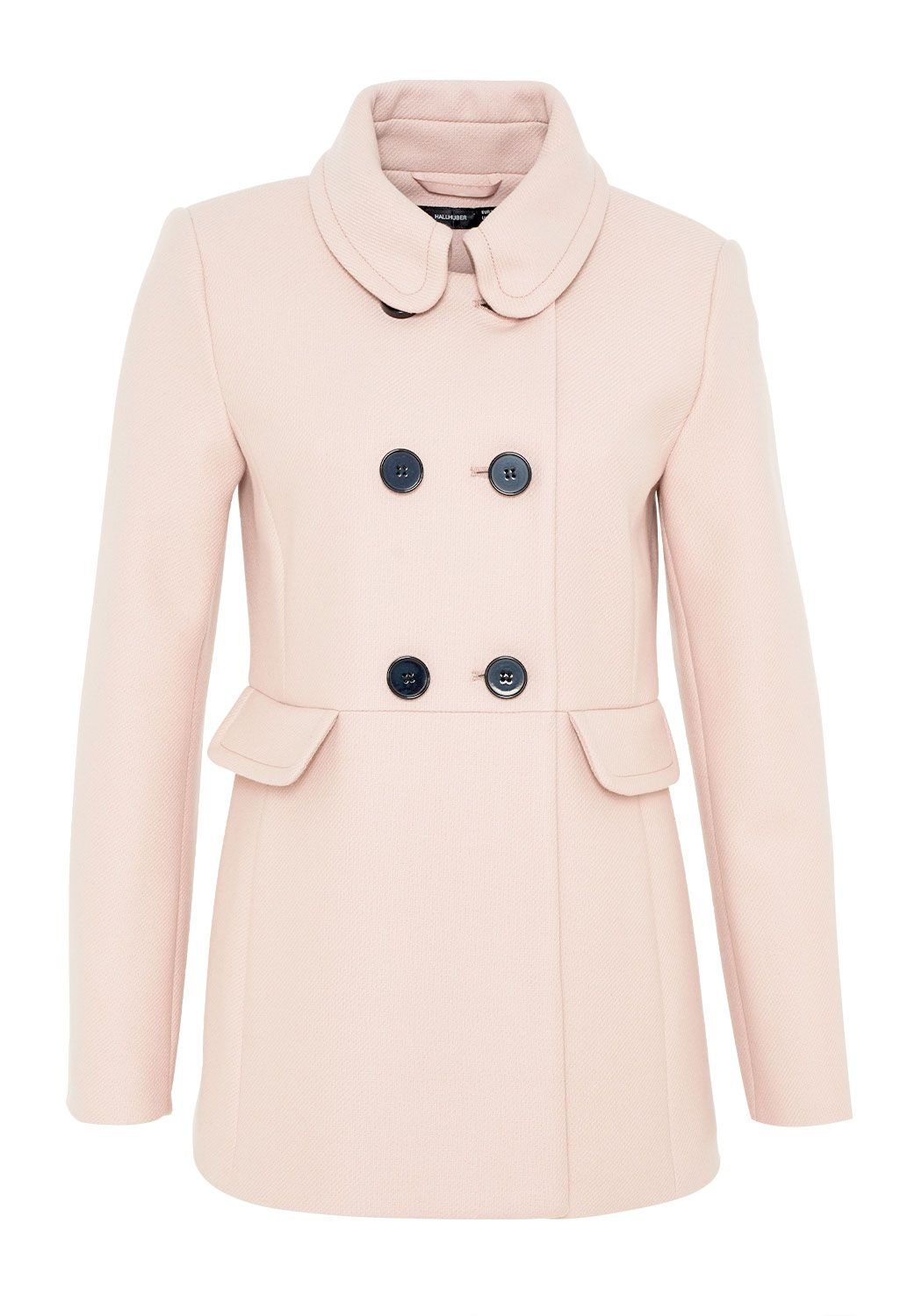 Hallhuber Double Layer Wool Jacket, Pink