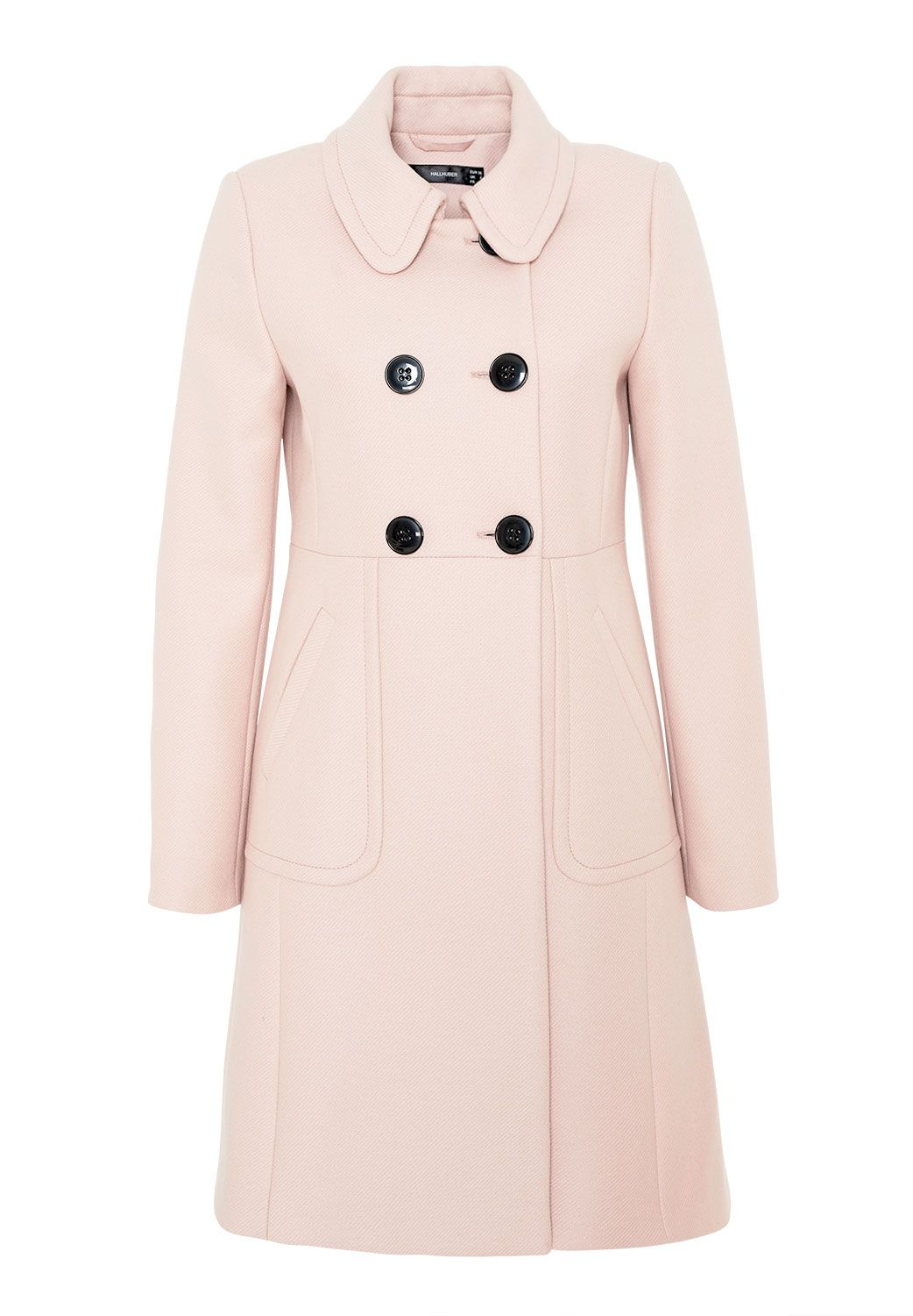Hallhuber Double Layer Wool Coat, Pink