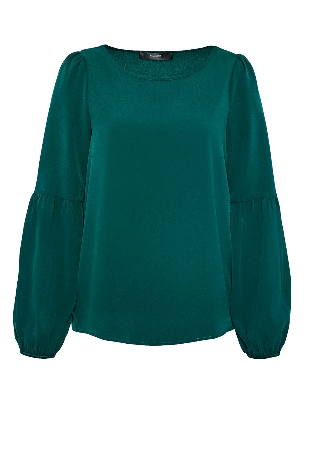 Hallhuber Blouse with Bell Sleeves, Blue