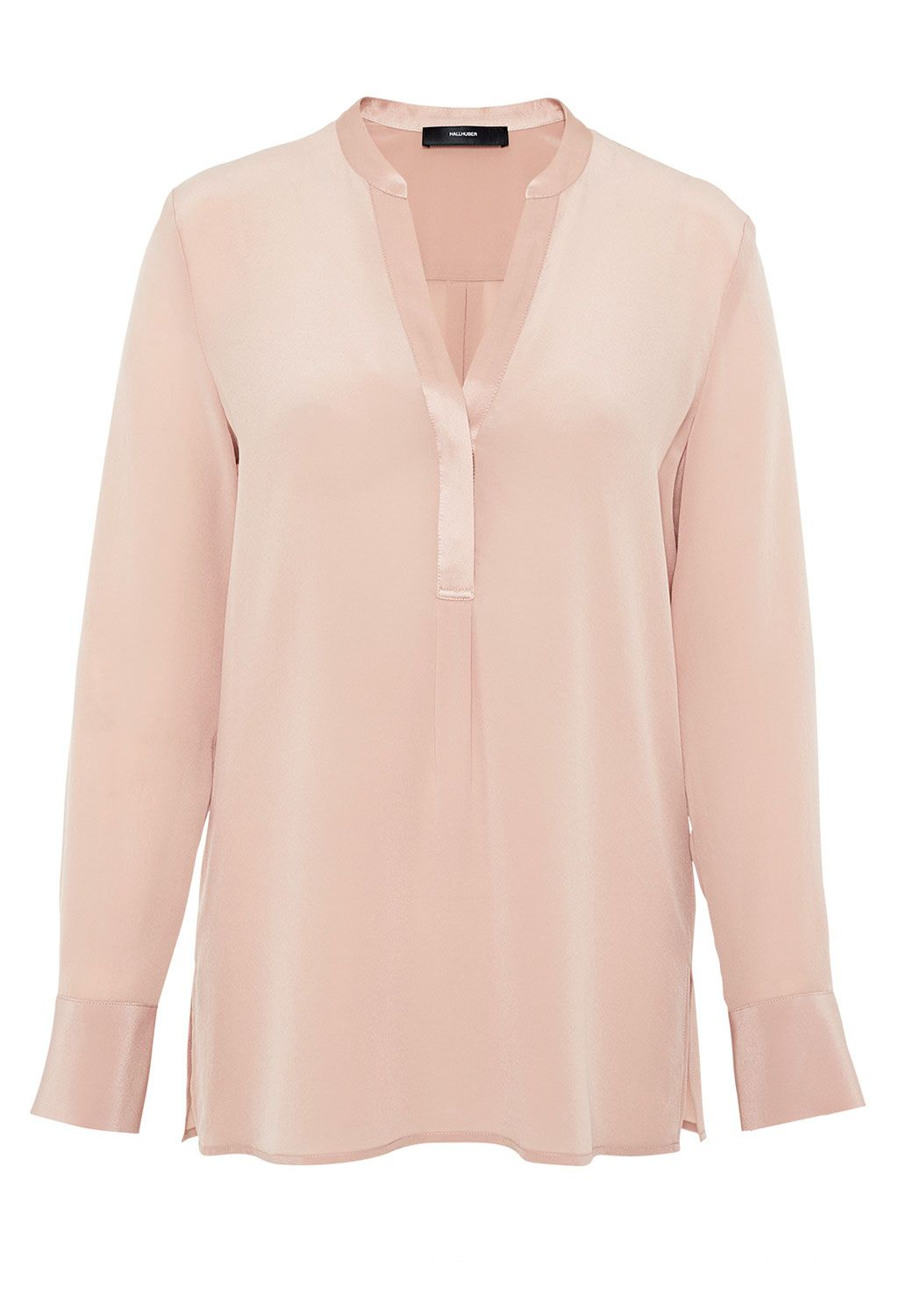 Hallhuber Tunic blouse made of silk, Pink