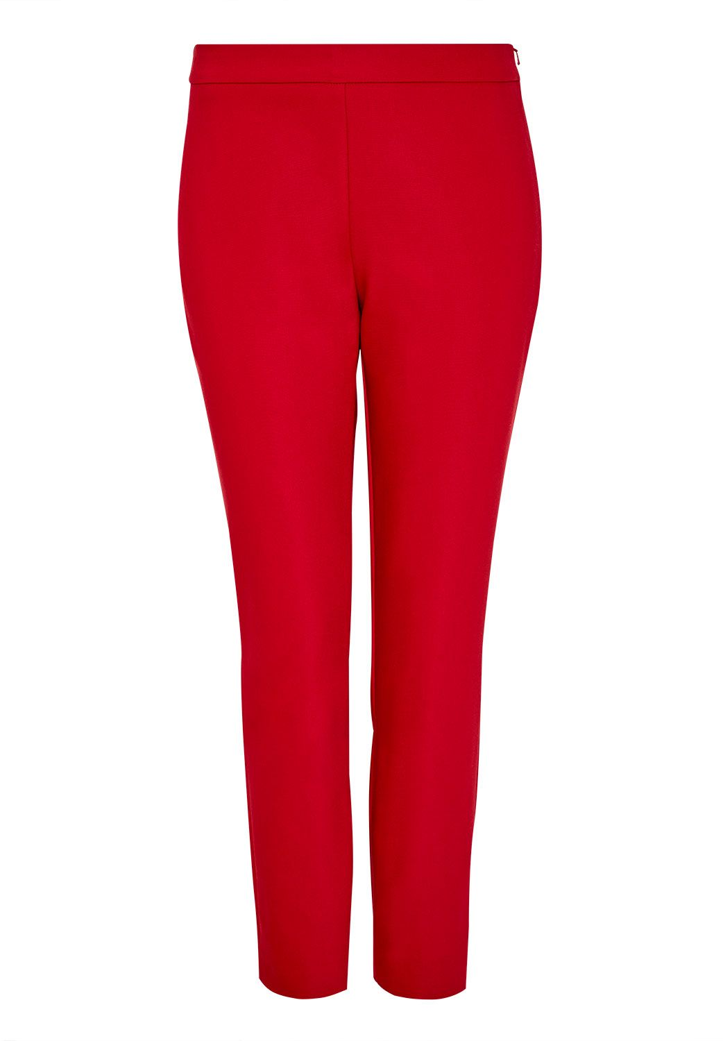 Hallhuber Cropped skinny trousers, Red