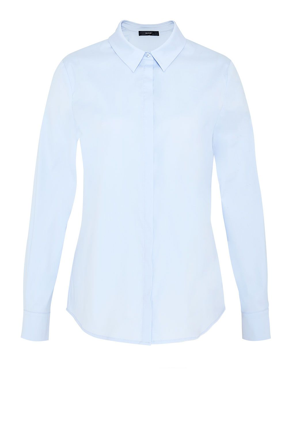 Hallhuber Shirt with concealed button placket, Blue