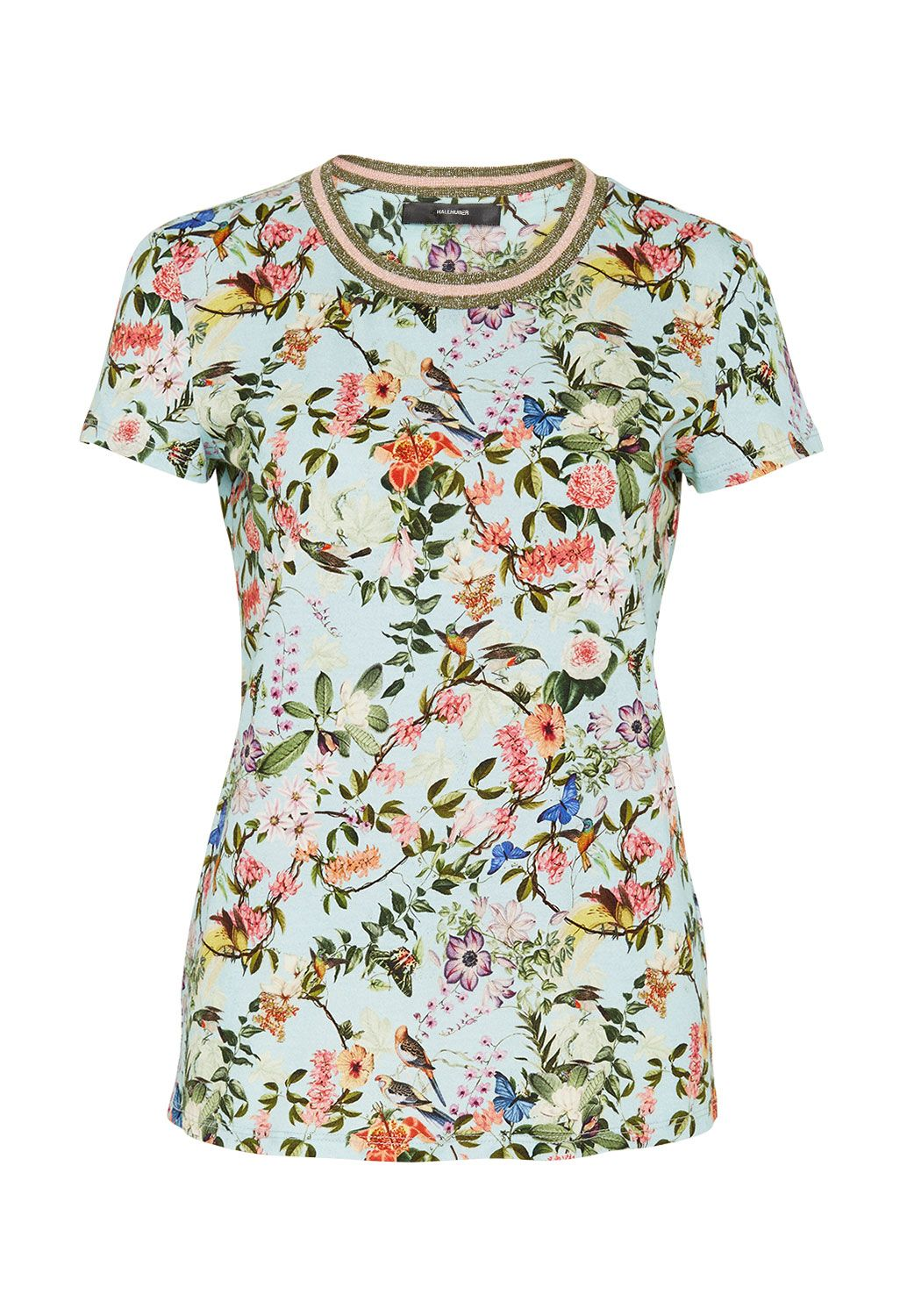Hallhuber Asia print top, Multi-Coloured
