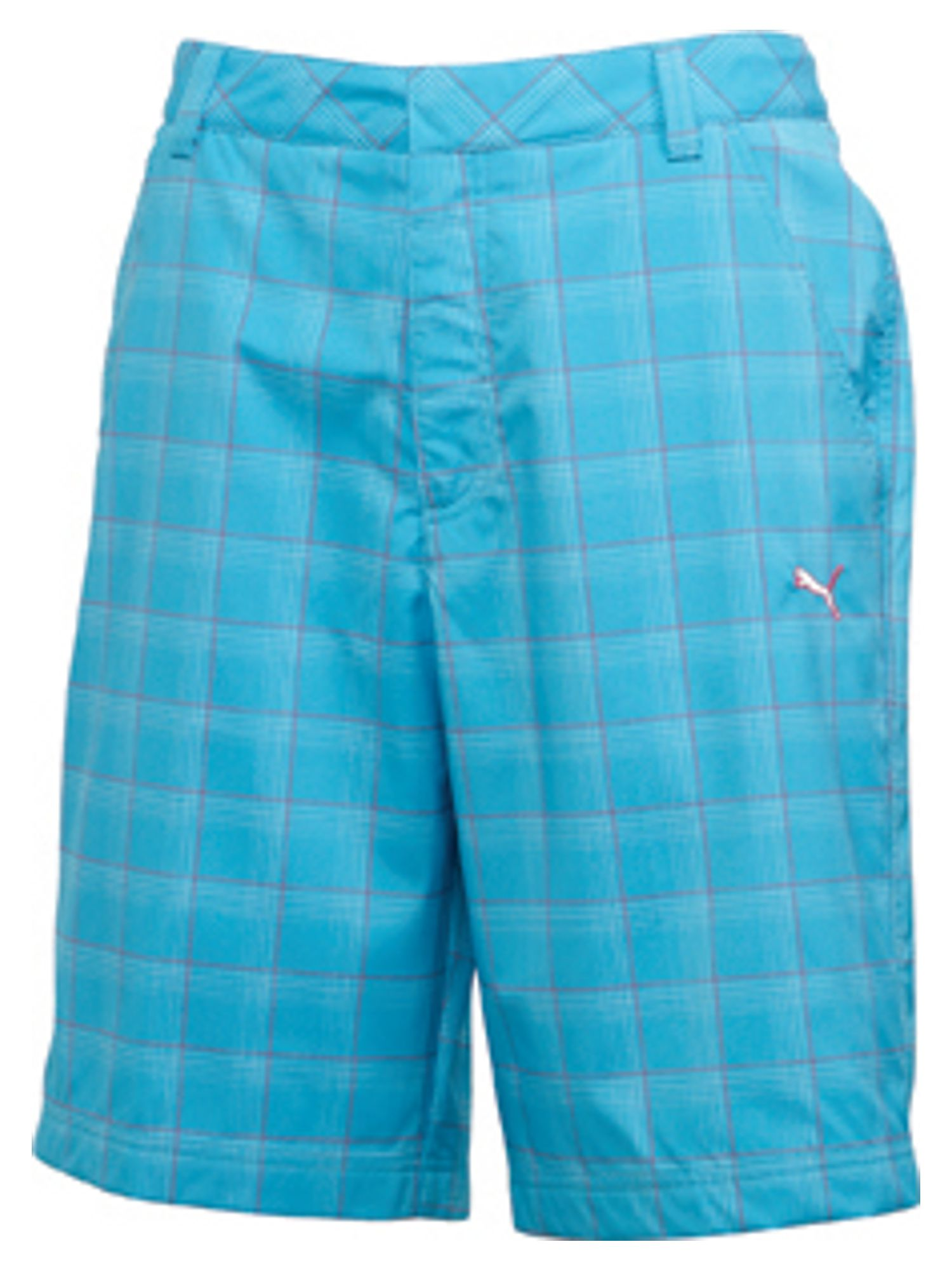 Golf plaid tech short