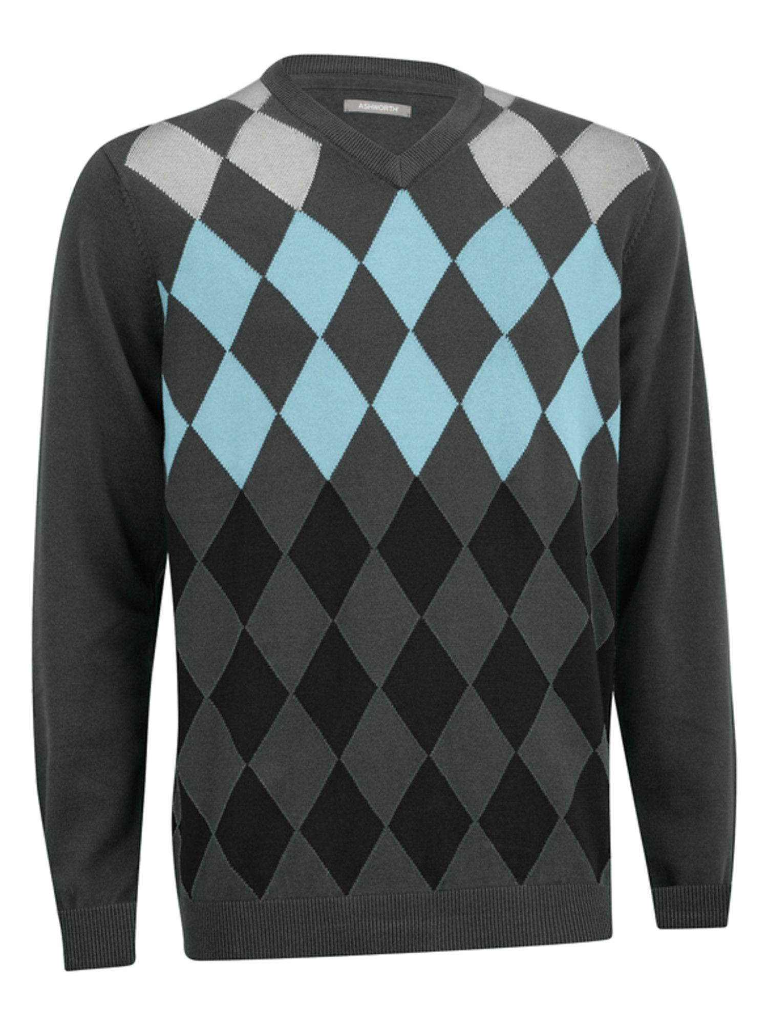 Argyle v neck sweater