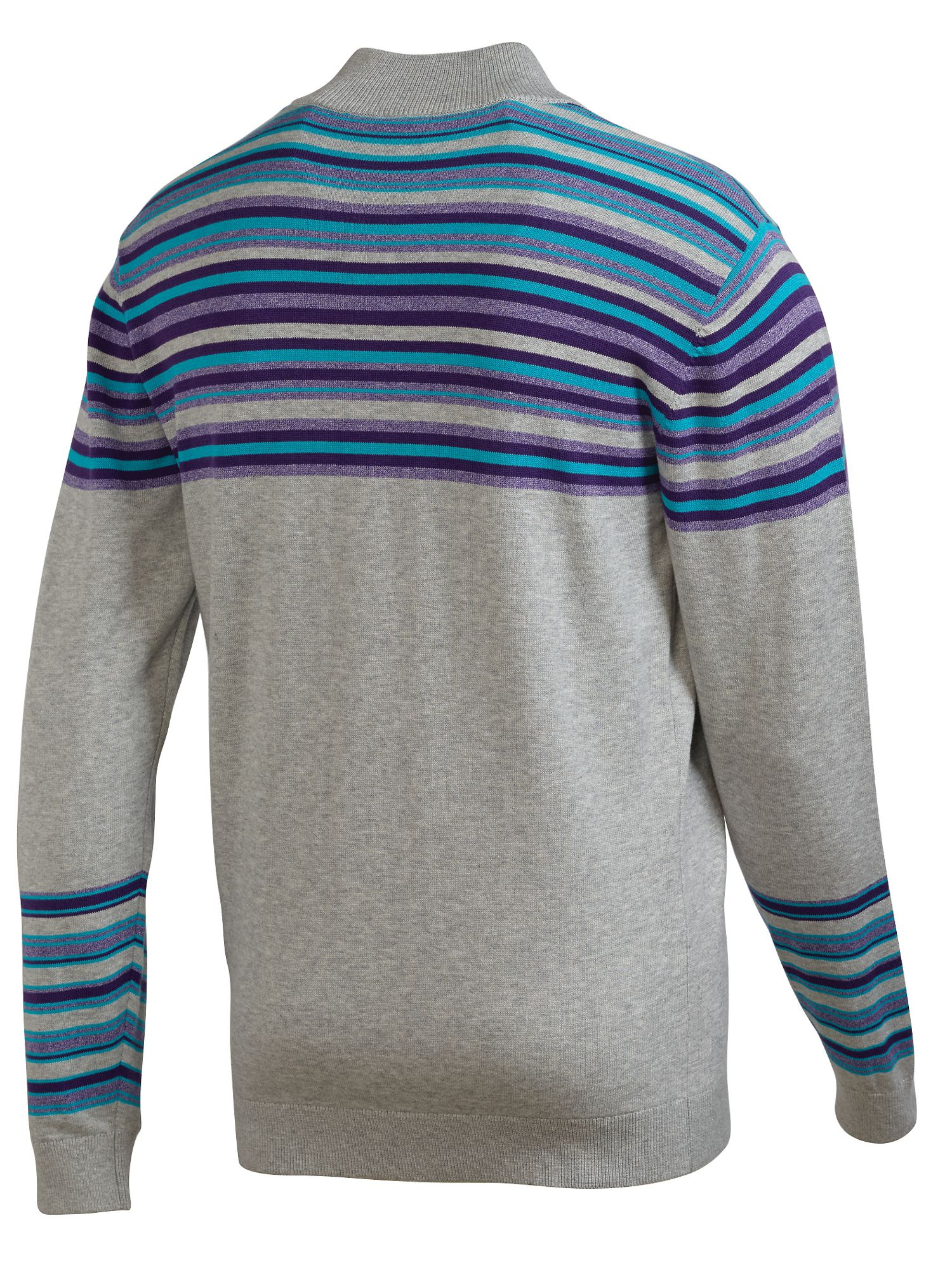 Stripe 1/4 zip fastening jumper
