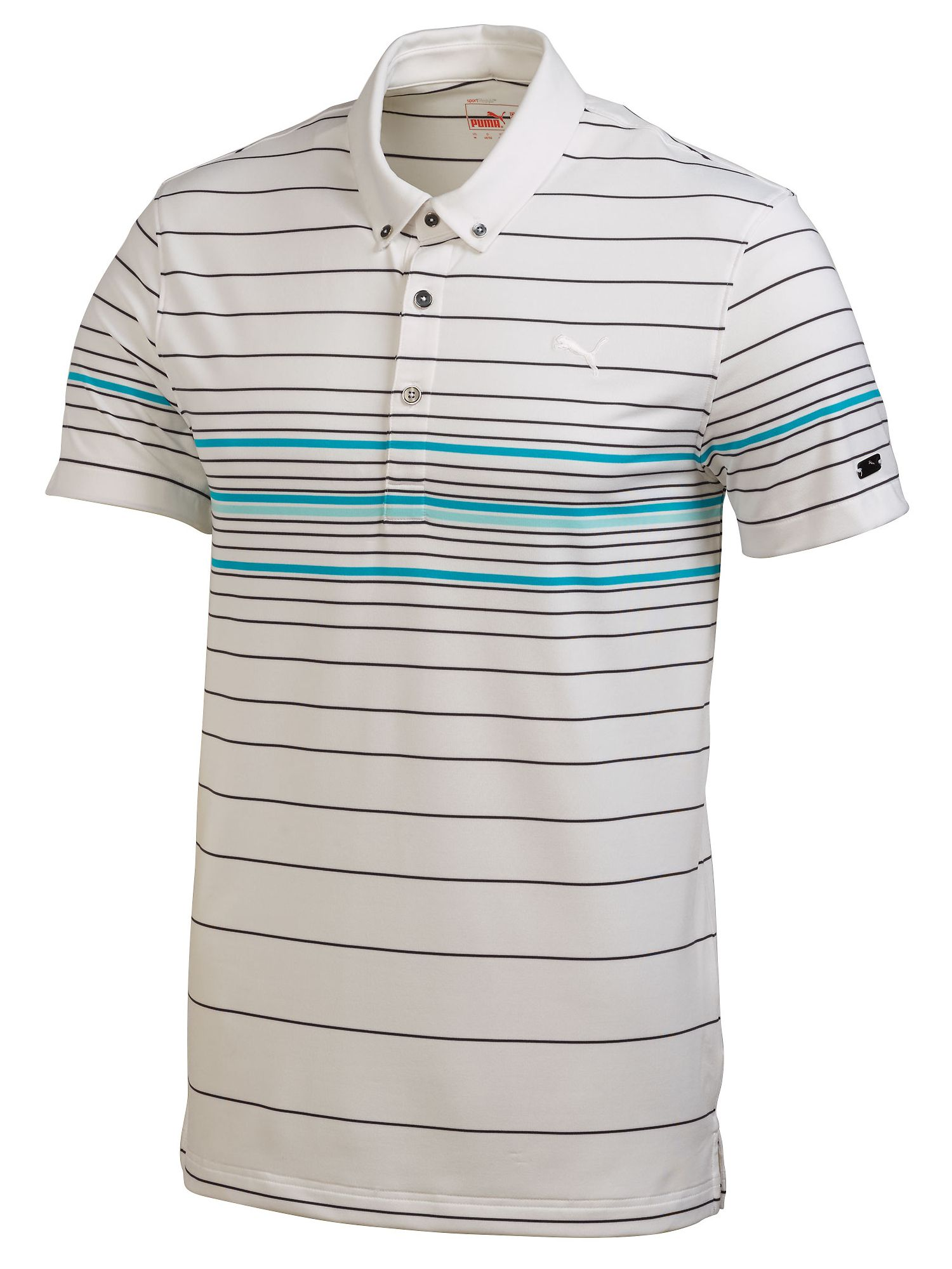 Lux YD stripe polo shirt