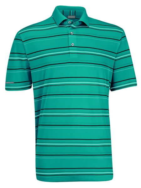 Ashworth Performance Interlock Stripe Golf Shirt