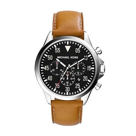 Michael Kors Mk8333 mens leather watch