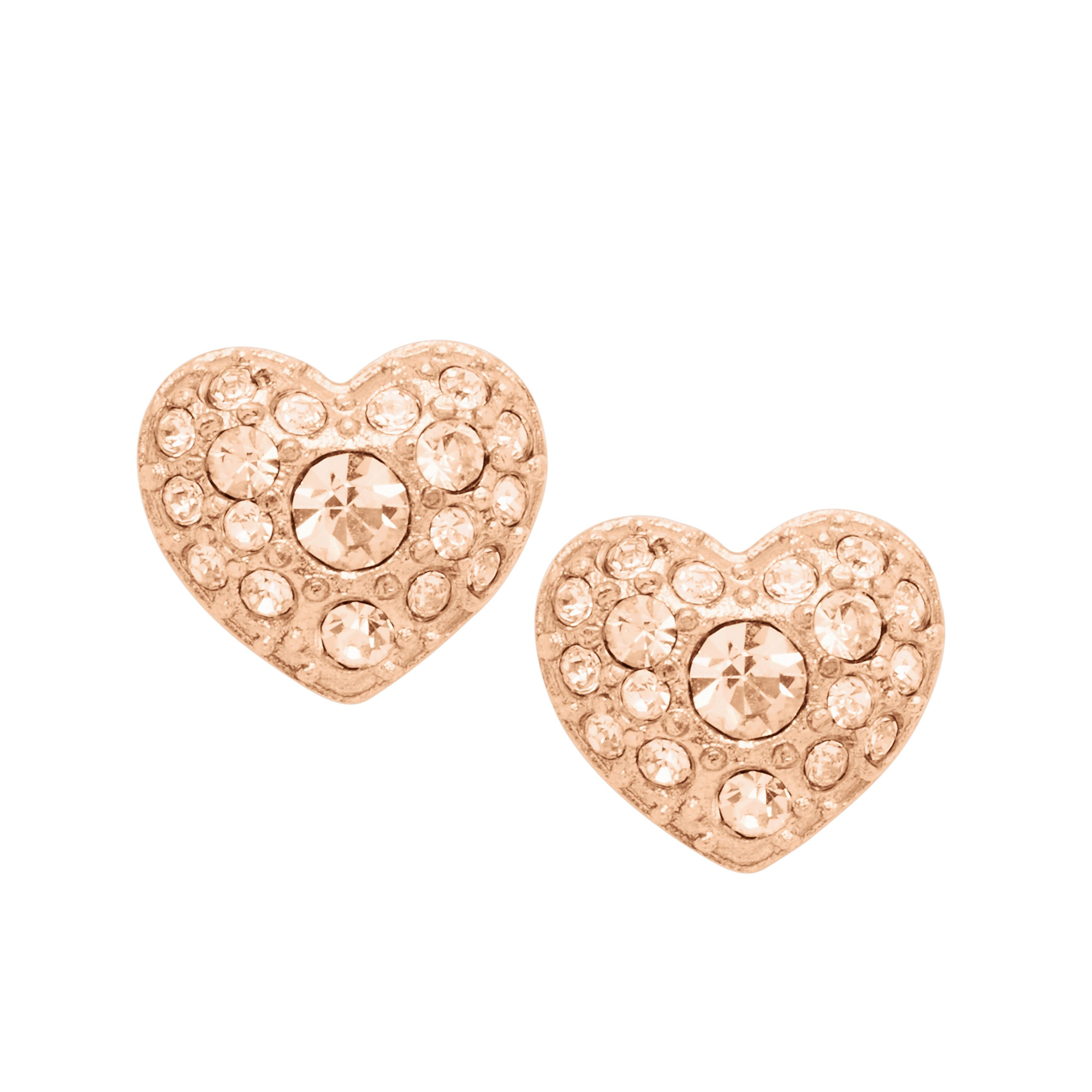 Fossil Jf01151791 ladies earrings, Rose Gold