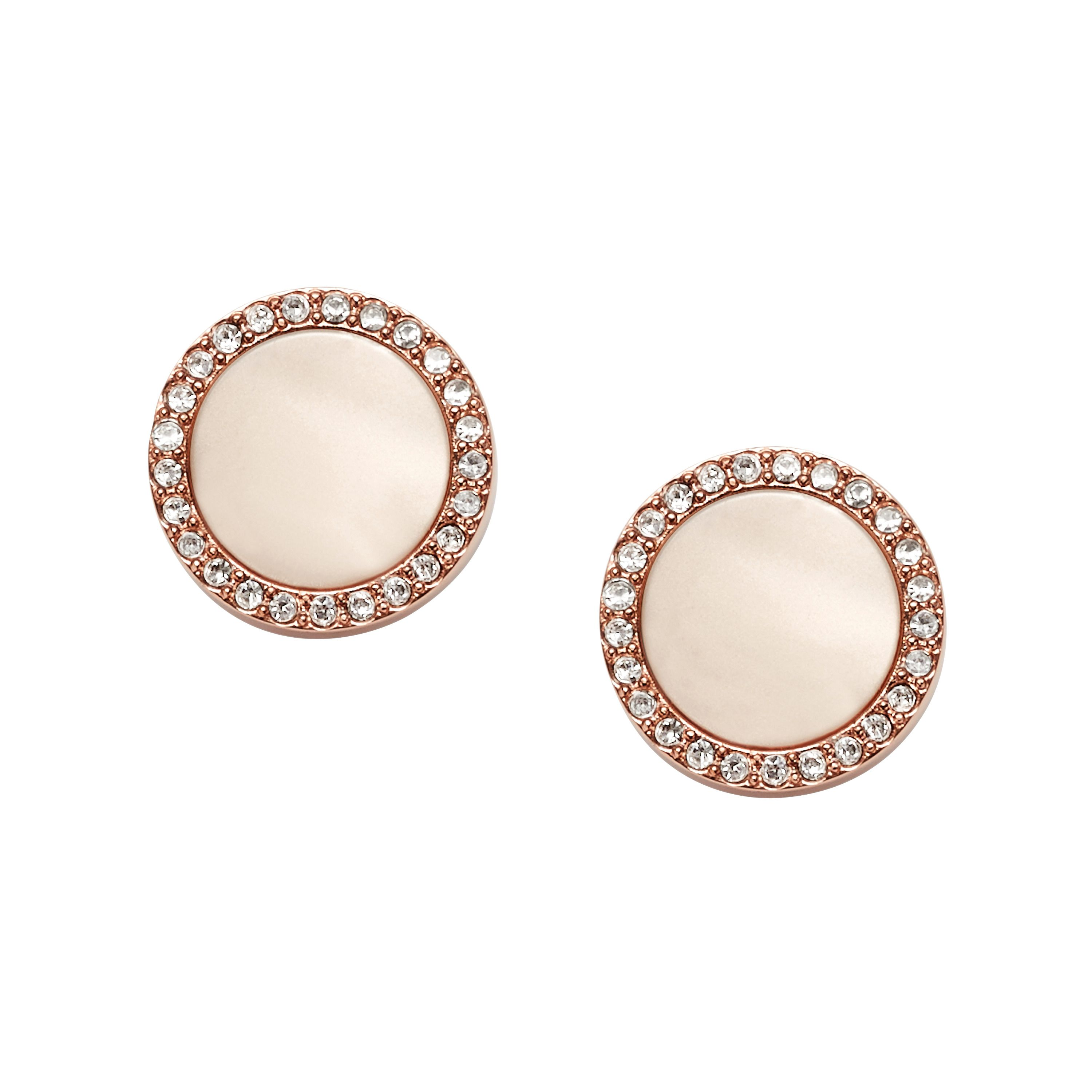 Fossil JF01715791 ladies earrings, Rose Gold