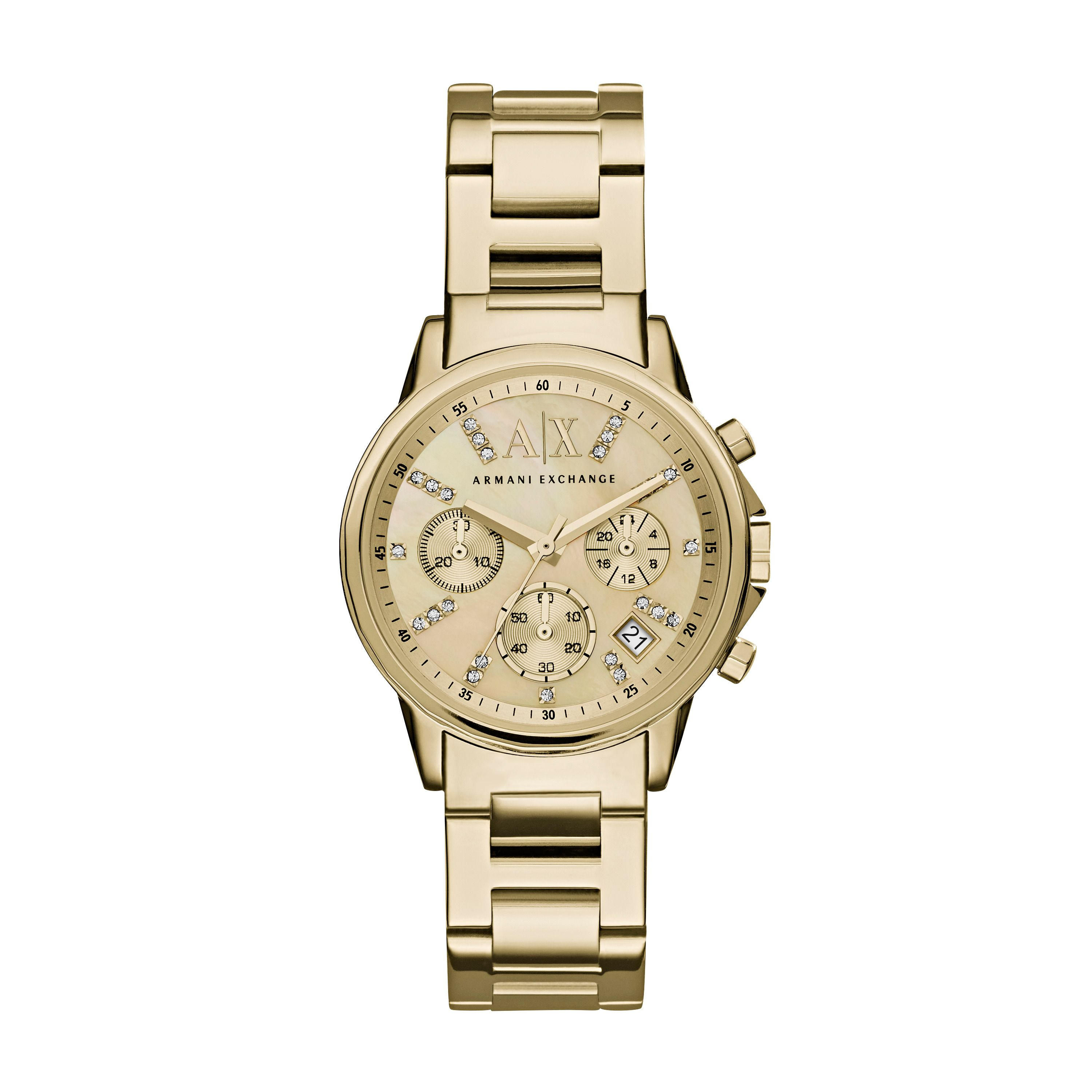 Armani Exchange Ax4327 ladies bracelet watch Gold Metallic