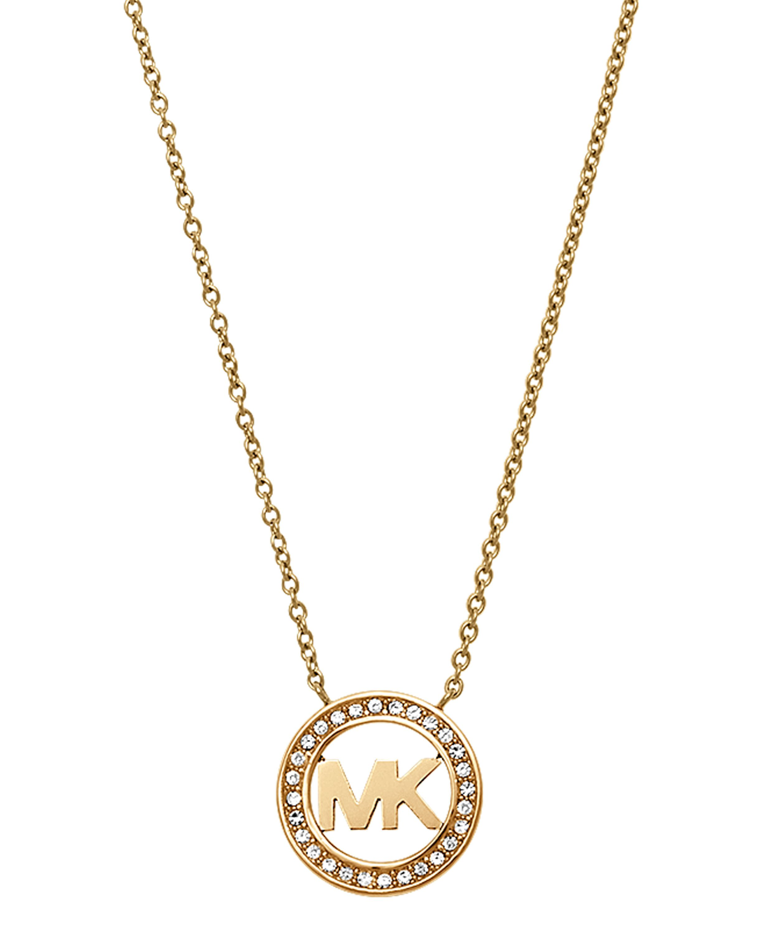 Michael Kors MKJ4732710 Ladies Logo Pendant Necklace Gold