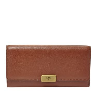 Fossil Emerson flap clutch Brown