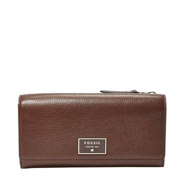 Fossil Dawson flap clutch Brown