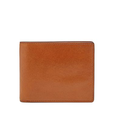 Fossil Isaac large coin pocket bifold Light Brown