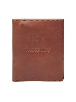 Leather rfid-blocking passport case