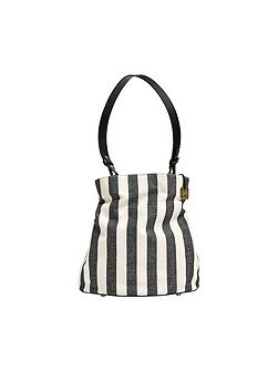 Ladies amberline leather bucket bag