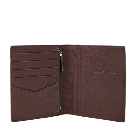 Fossil Leather rfid-blocking passport case