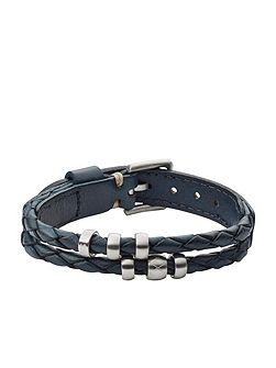 Jf02346040 mens leather bracelet